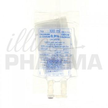 Chlorure de sodium Lavoisier 0,9% Poche 100ml