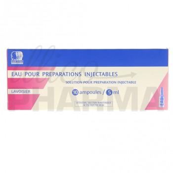 Eau pour préparations injectables Lavoisier 10Amp/5ml