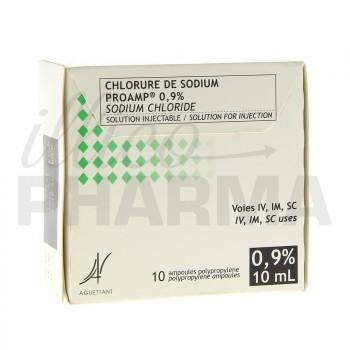 Chlorure de sodium Proamp 0,9% 10Amp/10ml