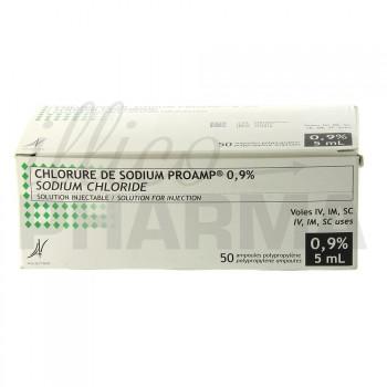 Chlorure de sodium Proamp 0,9% 50Amp/5ml