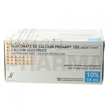 Gluconate de calcium Proamp 10% 50Amp/10ml