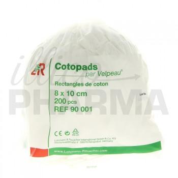 Cotopads rectangles de coton 8x10cm 200 pcs