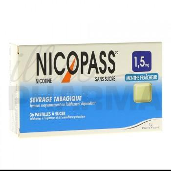 Nicopass 1,5mg x36 menthe fraîcheur