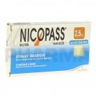 Nicopass 2,5mg x12 Menthe Fraîcheur