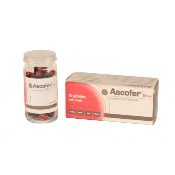 Ascofer 33mg 30gélules