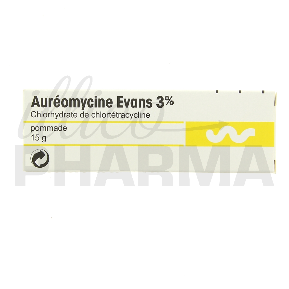 aureomycine evans 3 pommade antibact riens antiviraux usage topique illicopharma. Black Bedroom Furniture Sets. Home Design Ideas