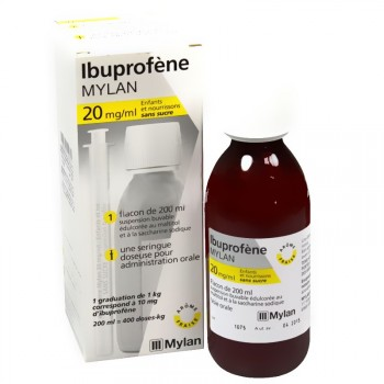 Ibuprofene Mylan sirop enfant nourrisson 20mg/ml 200ml
