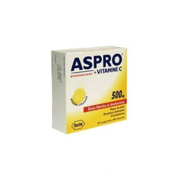 Aspro 500 Vitamine C 20cpr effervescents