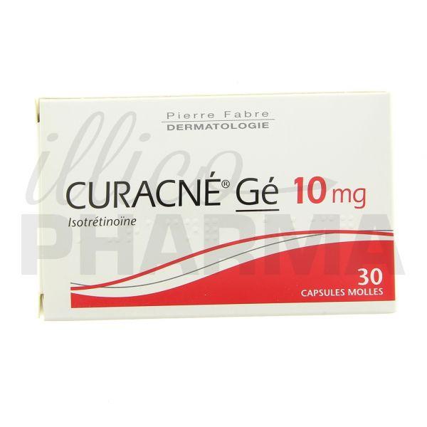 Curacne Gé 10mg 30caps - Préparations antiacnéiques