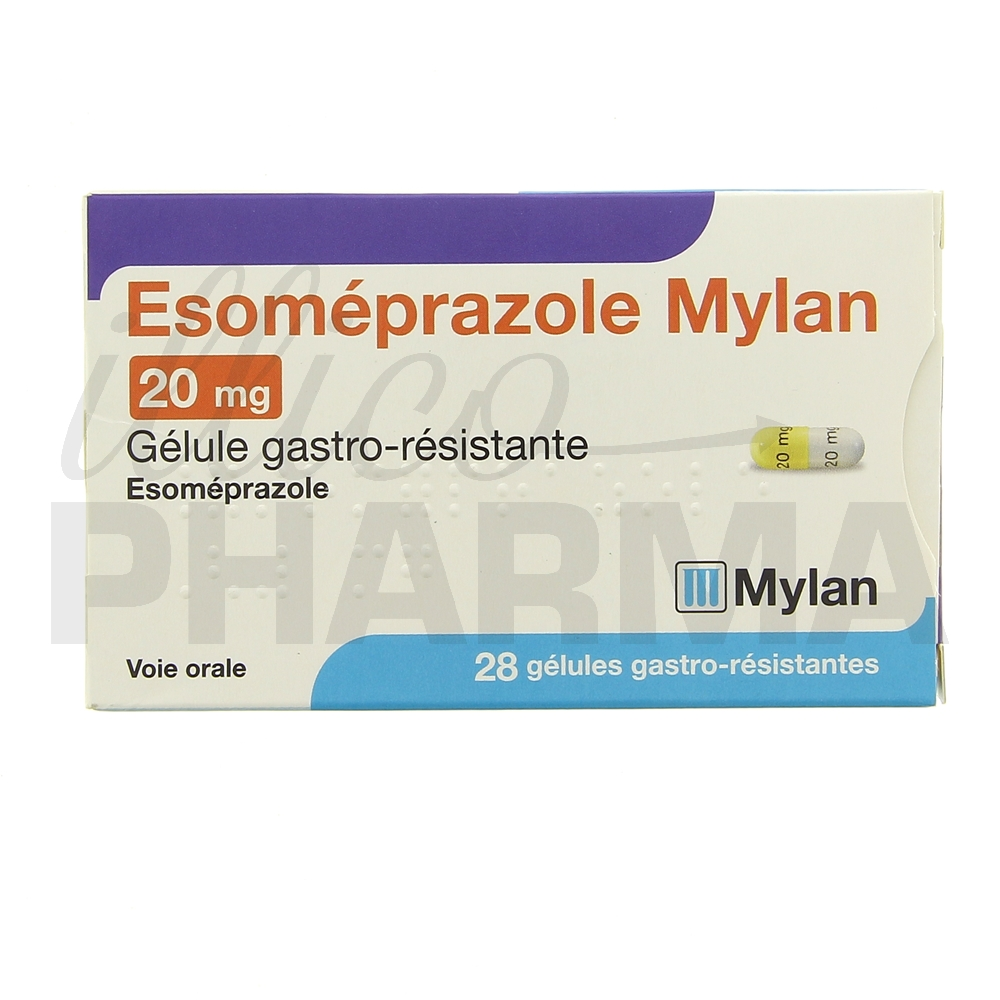Esomeprazole Mylan 20mg 28gél - Antiacides, antiflatulents