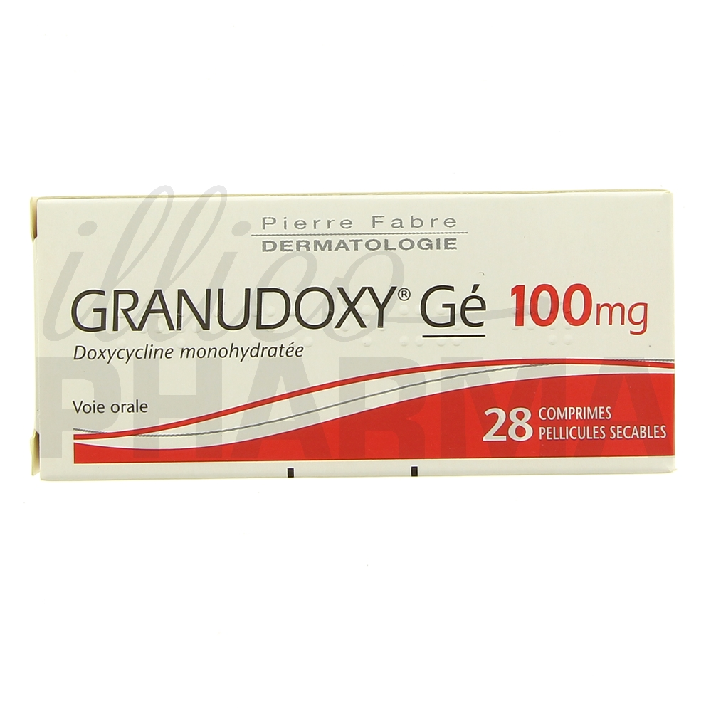 Granudoxy Gé 100mg 28cpr - Antibiotiques systémiques