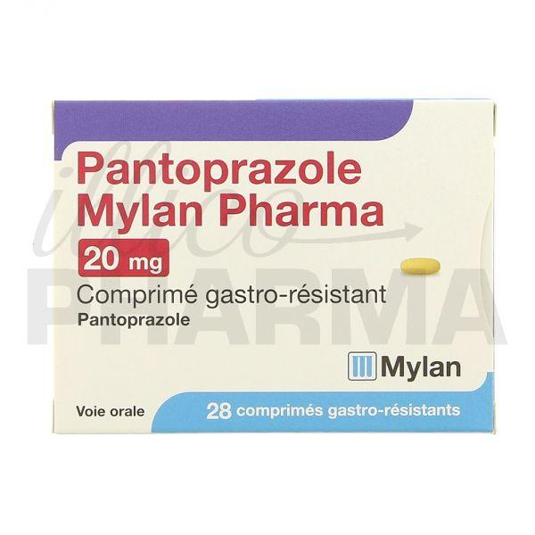 Pantoprazole Mylan 20mg 28cpr - Antiacides, antiflatulents