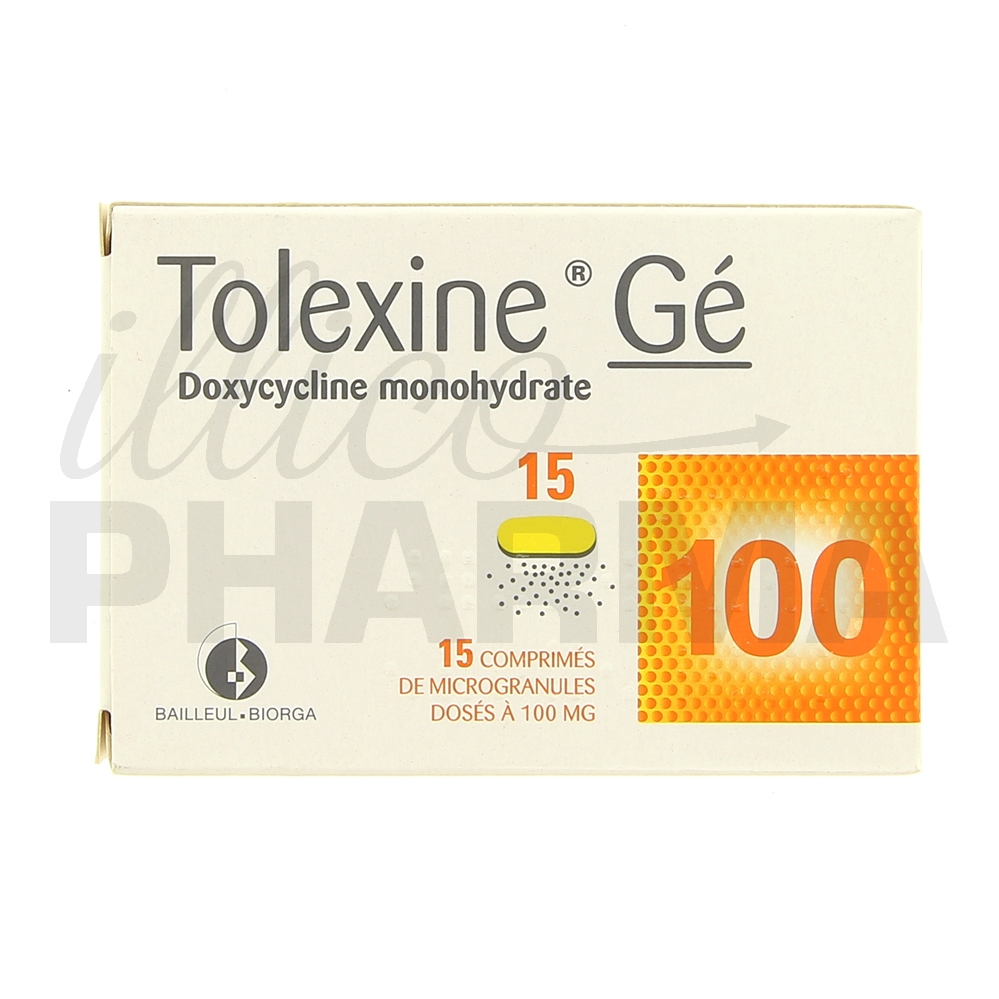 Tolexine Gé 100mg 15cpr - Antibiotiques systémiques