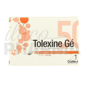 Tolexine Gé 50mg 28cpr - Antibiotiques systémiques