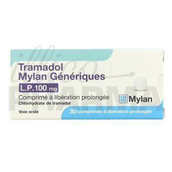 Médicament Tramdol Mylan LP 100mg 30cpr - Analgésiques