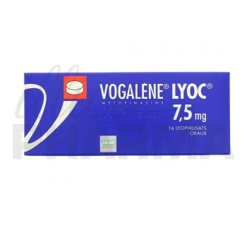 Vogalène Lyoc 7,5mg 16cpr - Antiémétiques & antinauséeux