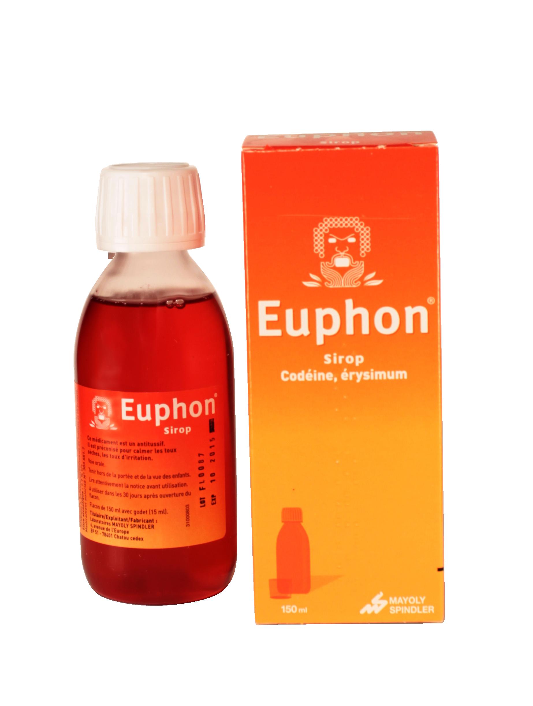 Euphon Sirop - Médicament Maux de gorge - Pharmacie en