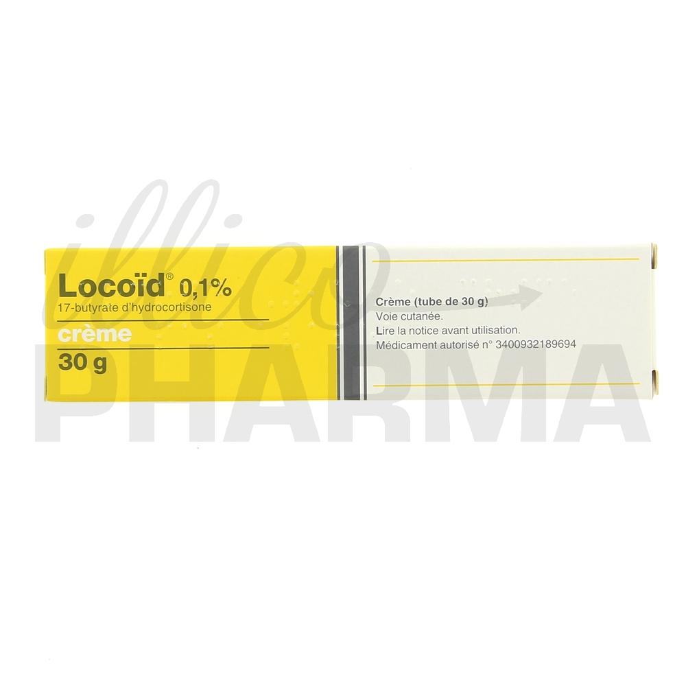 Médicament Locoid 0,1% crème - Corticoïdes à usage topique