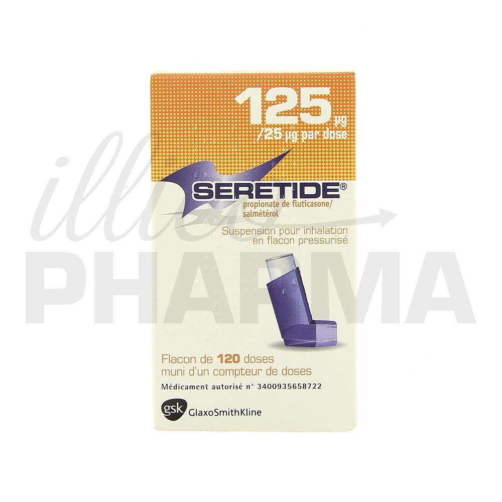 Seretide 125mcg - Antiasthmatiques & médicaments de la