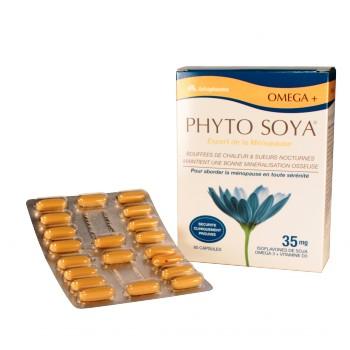 Phyto Soya Omega+, compléments alimentaires contre les bouffées de chaleurs