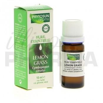 Huile essentielle lemongrass Bio Phytosun 10ml