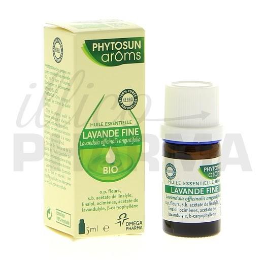 Huile essentielle lavande fine bio phytosun 5ml - Huile essentielle de lavande prix ...