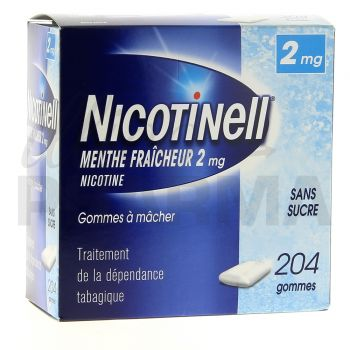 Nicotinell Menthe fraicheur 2mg 204gommes