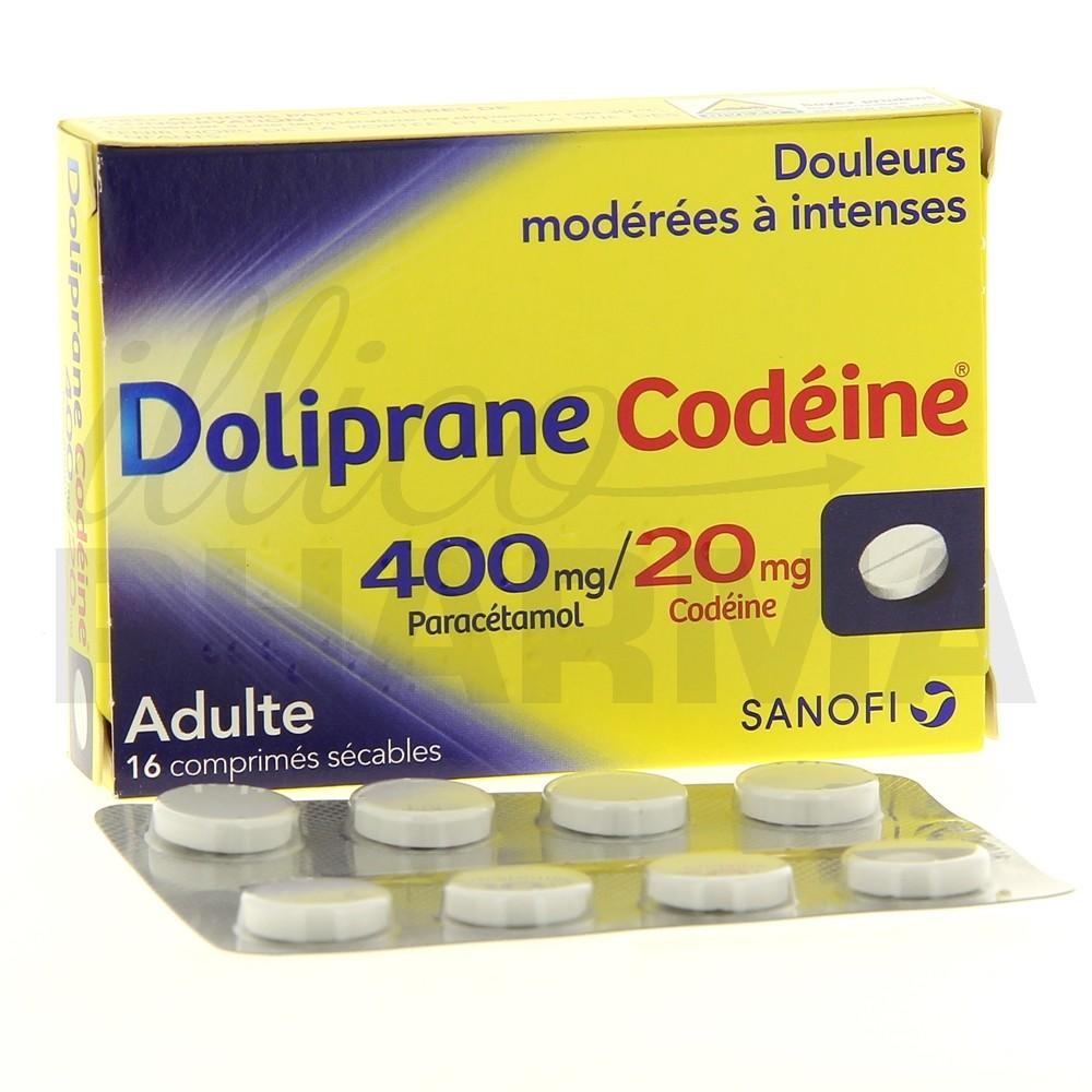 doliprane codeine