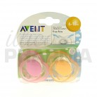 Avent sucette silicone 6/18m x2