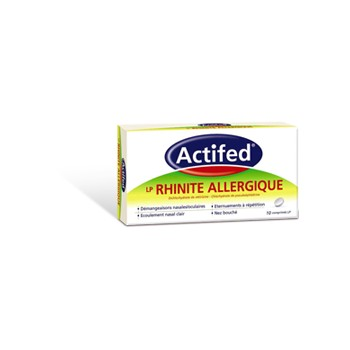 Actifed LP Rhinite Allergique 10cpr