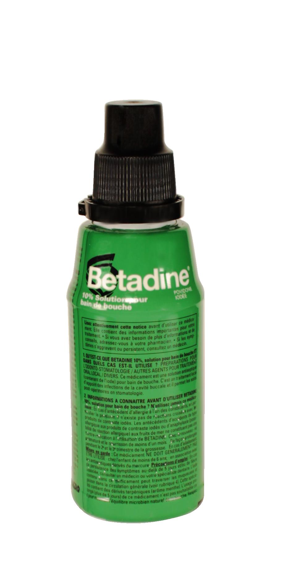 Betadine 10 m dicament bain de bouche antiseptique for Bain de bouche antiseptique maison