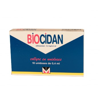 Biocidan 0,1mg/0,4 ml Collyre 10 unidoses