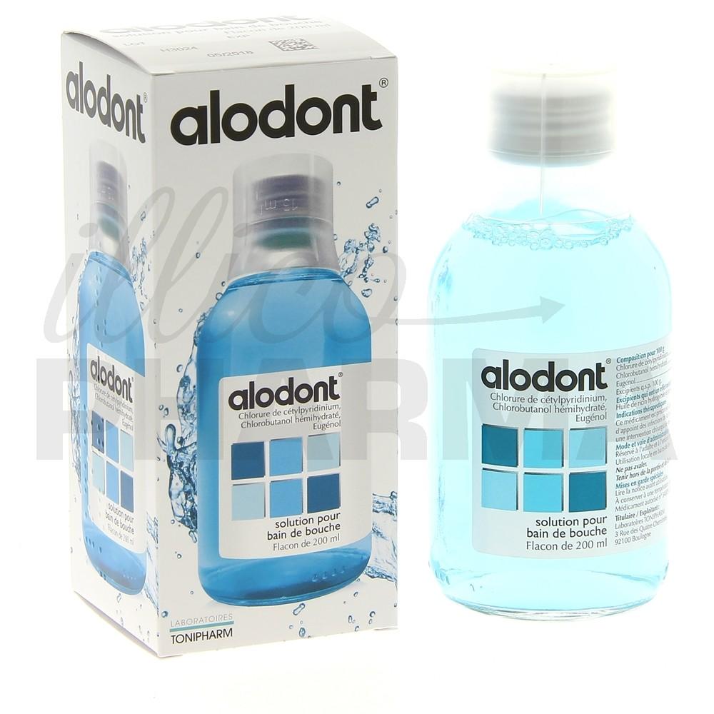 Alodont bain de bouche antiseptique pharmacie illicopharma for Bain de bouche antiseptique maison