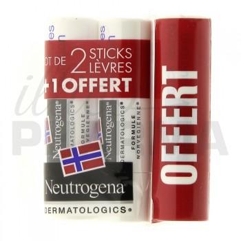 Stick à lèvres Neutrogena 2+1 offert