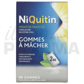 Niquitin 2mg menthe glaciale x100 gommes