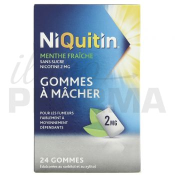 Niquitin 2mg menthe glaciale x30 gommes