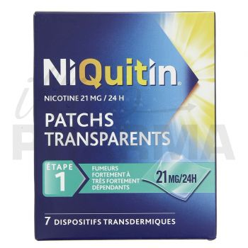 Niquitin 21mg x7 patchs