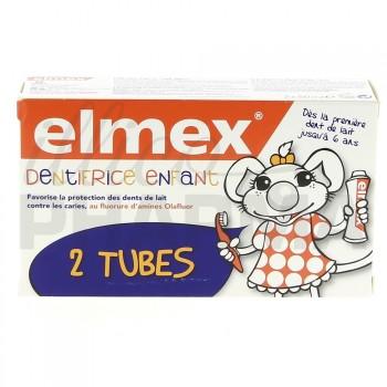 Elmex dentifrice enfant 2/6 ans lot 2x50ml