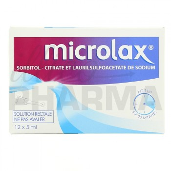 Microlax adulte 12 x 5ml