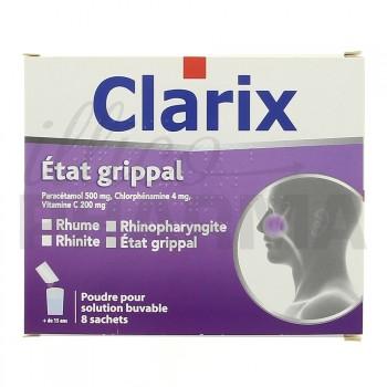 Clarix Etat grippal 8 sachets