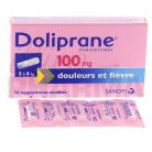 Doliprane 100mg Suppositoire x10