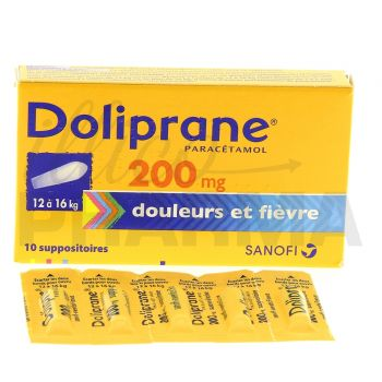 Doliprane 200mg Suppositoire x10