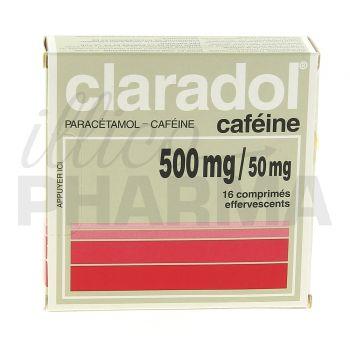 Claradol Caféine 500mg/50mg 16cpr eff