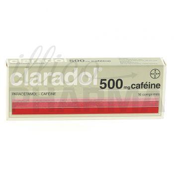 Claradol Caféine 500mg 16cpr