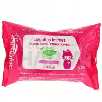 Lingettes intimes Saforelle Miss x25