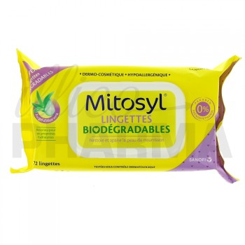 Mitosyl Lingettes Biodégradables x72
