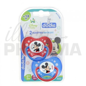 DODIE 2 sucettes Mickey +18 mois