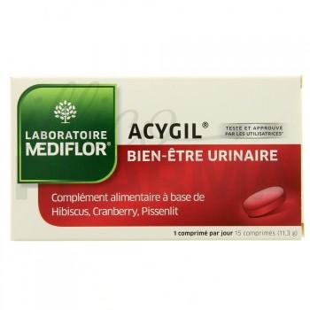 Acygil Bien-être urinaire 15 comprimés Médiflor