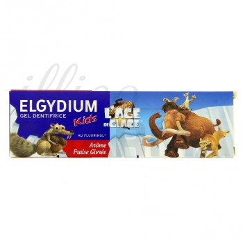 Gel Dentifrice Kids l'Age de Glace Elgydium arôme Fraise Givrée