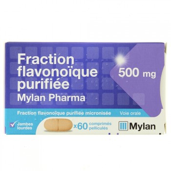 Fraction Flavonoique purifée Mylan 500mg 60cpr